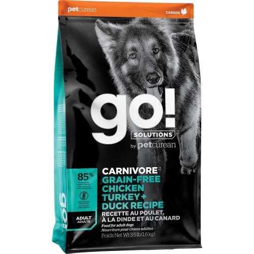 GO! Adult 1,6kg Poulet+Dinde+Canard  Dog CARNIVORE GF