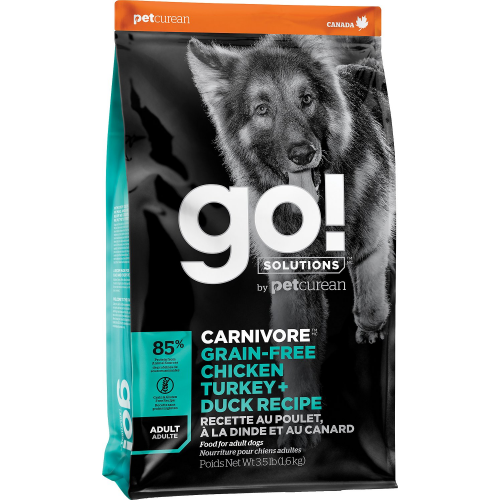 GO! Dog CARNIVORE GF Chicken,Turkey + Duck Adult 1,6kg