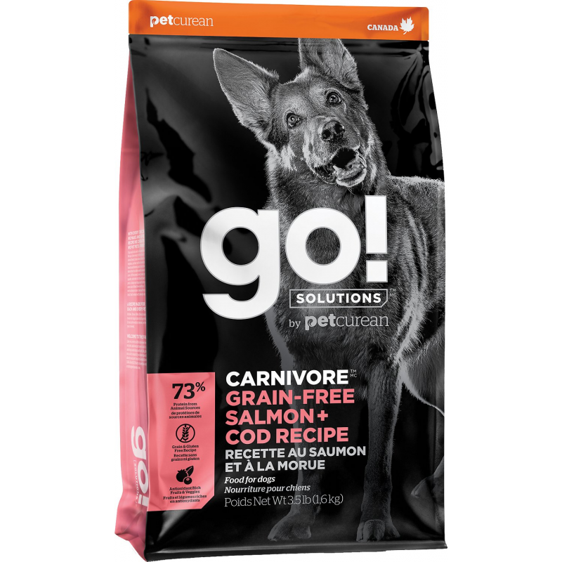 GO! Dog CARNIVORE GF Salmon + Cod 1,6kg