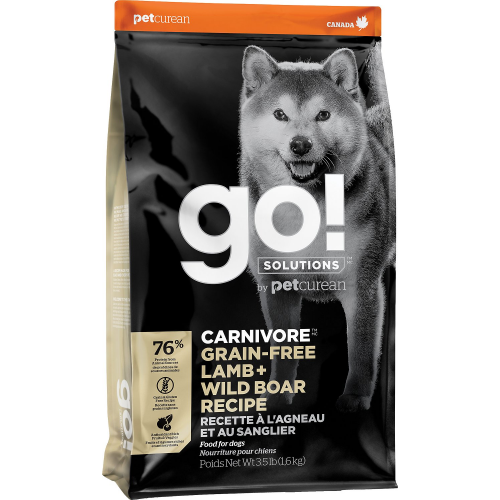 GO!Agneau+Sanglier sauvage 1,6kg Dog CARNIVORE GF