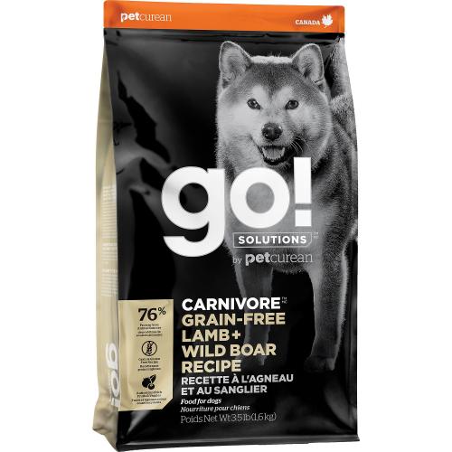 GO! Dog CARNIVORE GF Lamb + Wild Boar 1,6kg