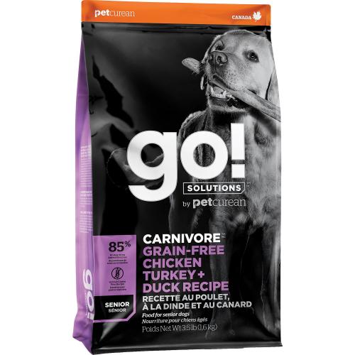 GO! Senior 10kg Poulet+Dinde+Canard Grain Free Dog CV