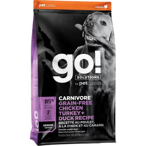 GO! Dog CARNIVORE GF Chicken,Turkey + Duck Senior 10kg