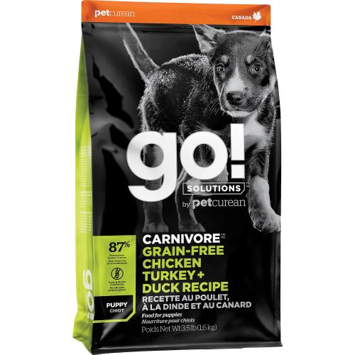 GO! Puppy 1,6kg Poulet+Dinde+Canard  Dog CARNIVORE GF