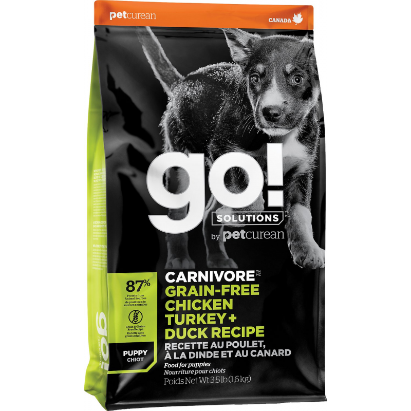 GO! Dog CARNIVORE GF Chicken,Turkey + Duck Puppy 1,6kg