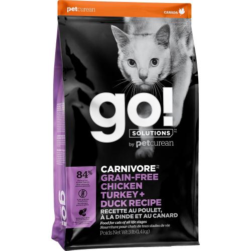 GO! Poulet+Dinde+Canard 7,3kg Cat CARNIVORE GF