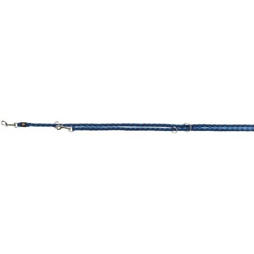 Cavo laisse réglable, S–M: 2,00 m/ø 12 mm, indigo/bleu royal