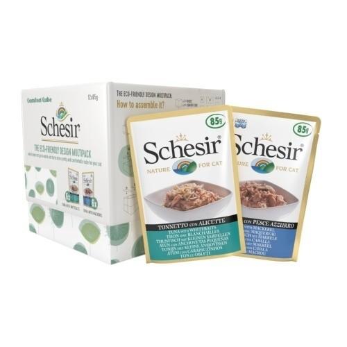 Schésir Comfort Cube thon/blanchailles-thon/maquereau 85gr