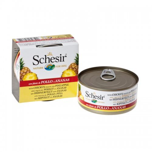 Schesir Chien Filet de Poulet et Ananas 150 gr