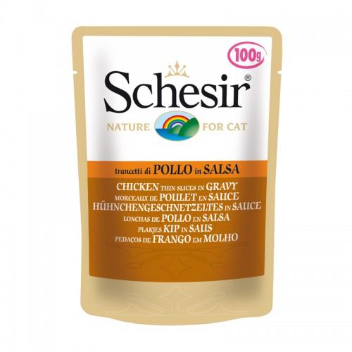 Schesir Chat Morceaux de Poulet en sauce 100g