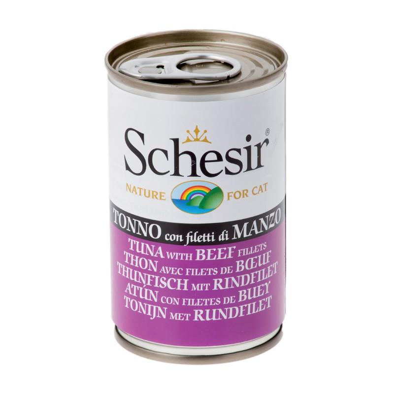 Schésir Chat Thon  avec filet de Boeuf 140 gr