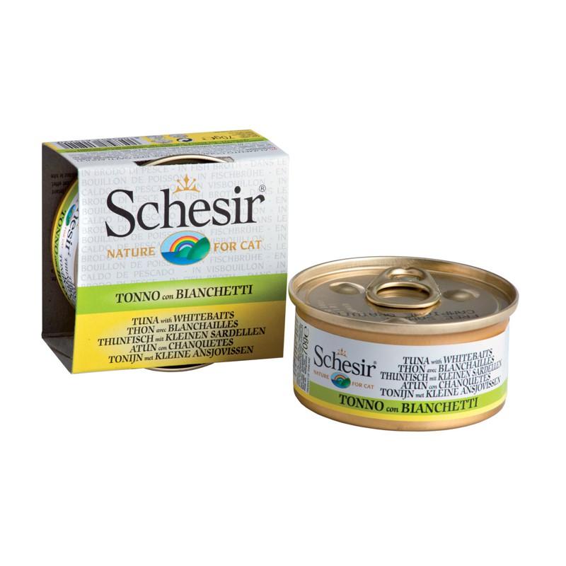 Schesir Chat Thon blanchailles avec Bouillon 70 gr