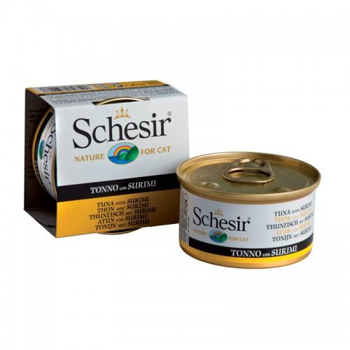 Schesir Chat Thon et Surimi 85gr