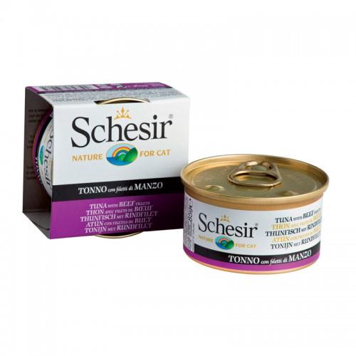 Schesir Chat Thon et Boeuf 85 gr