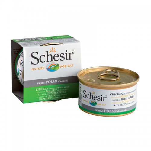 Schesir Chat Poulet au Naturel 85 gr