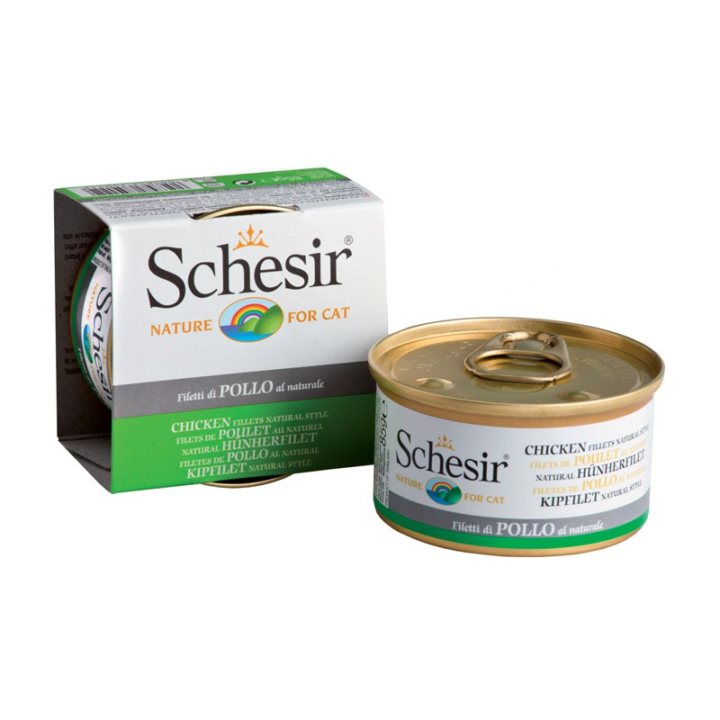 Schésir Chat Poulet au Naturel 85 gr