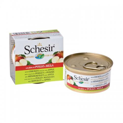 Schesir Chat Poulet et Pomme 75 gr