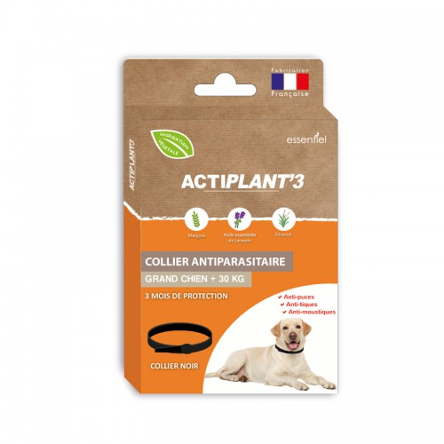 Collier Antiparasitaire ActiPlant'3 - grand chien