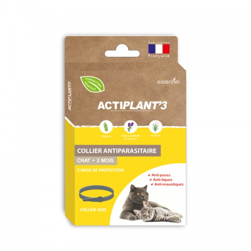 Collier Antiparasitaire ActiPlant'3 - chats