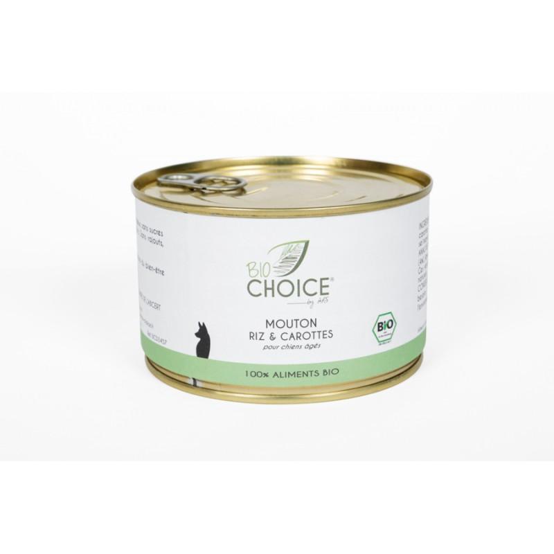 BioChoice Chien  Senior Mouton Riz & Carottes boite 400g