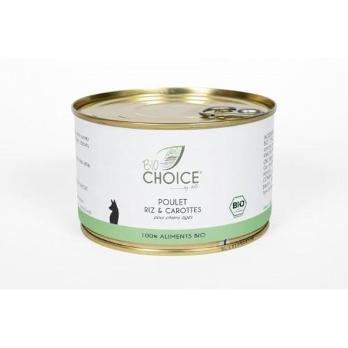 BioChoice Chien  Senior Poulet Riz & Carottes boite 400g