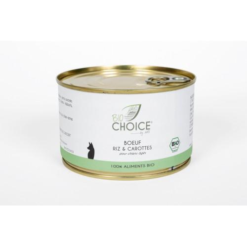 BioChoice Chien  Senior Boeuf Riz & Carottes boite 400g