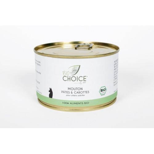 BioChoice Chien  Mouton Pates & Carottes boite 400g