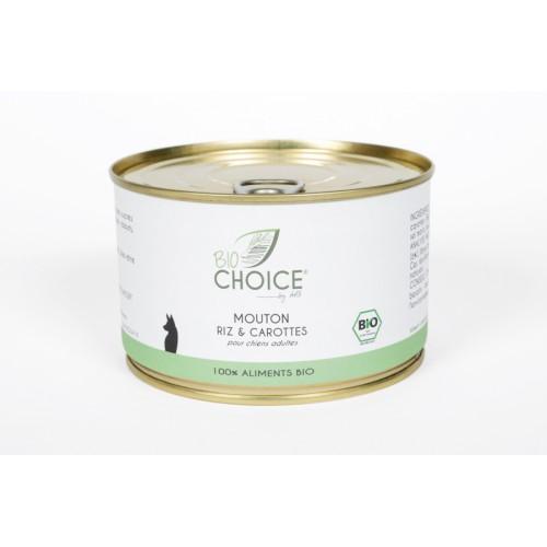 BioChoice Chien  Mouton Riz & Carottes boite 400g