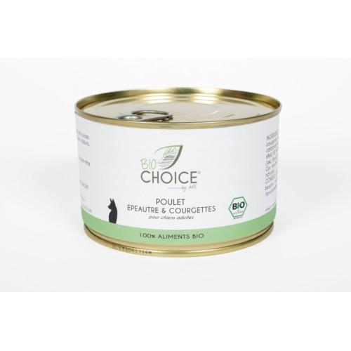 BioChoice Chien  Poulet Epeautre & Courgettes boite 400g