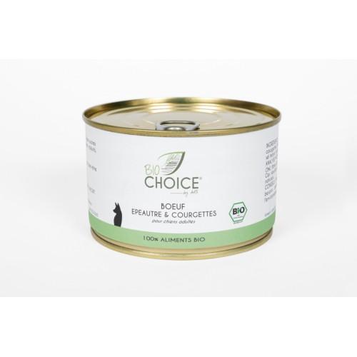 BioChoice Chien  Boeuf Epeautre & Courgettes boite 400g