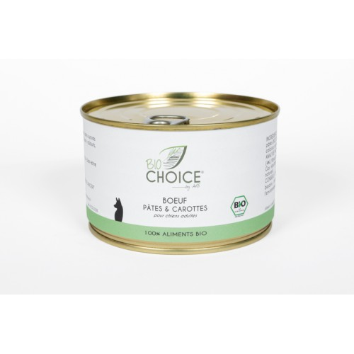 BioChoice Chien  Boeuf Pates & Carottes boite 400g