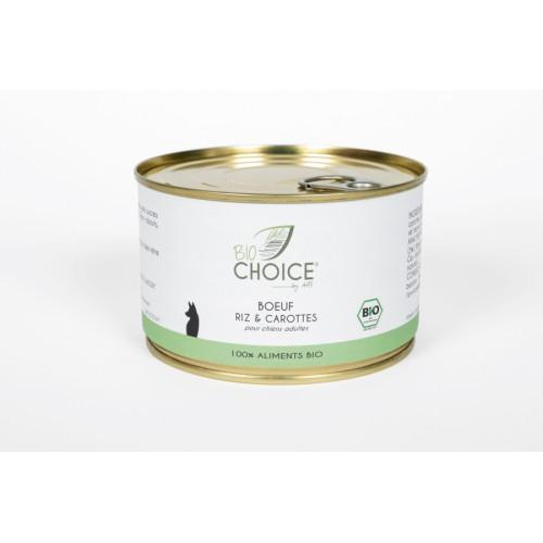 BioChoice Chien  Boeuf Riz & Carottes boite 400g