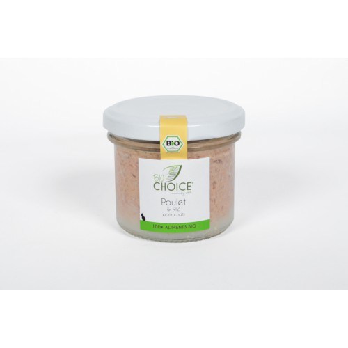 BioChoice Chat  Poulet & Riz bocal 100g