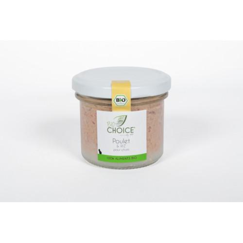BioChoice Chat  Poulet & Riz bocal 100g