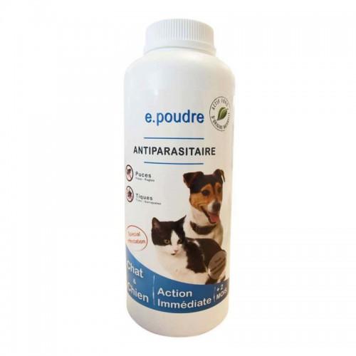 E.Poudre antiparasitaire chien/chat