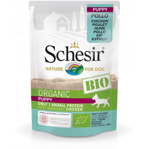 Schesir Chien Bio Poulet Puppy 85 gr