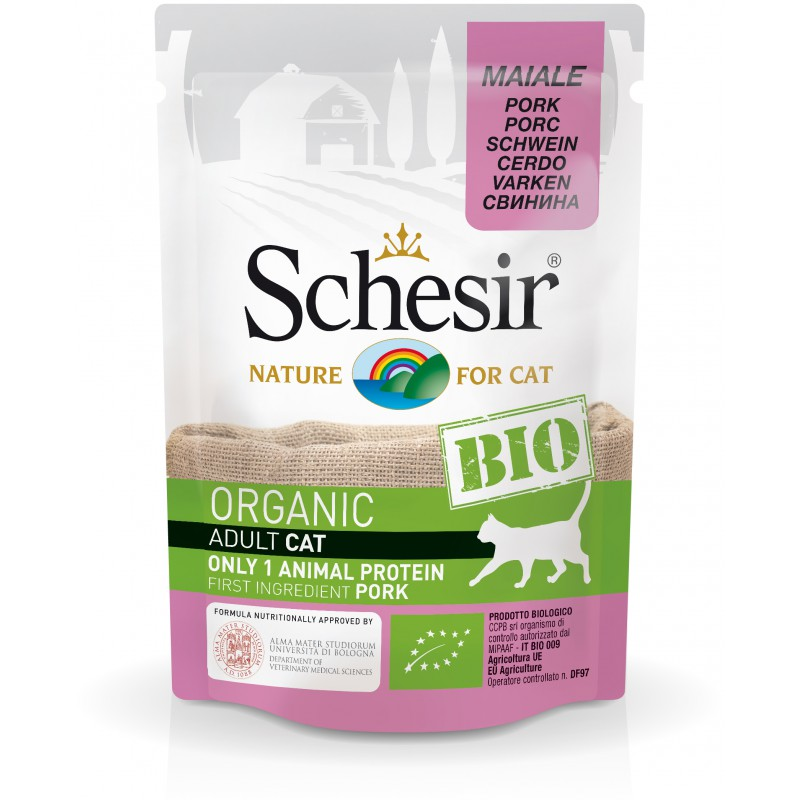 Schésir Chat Bio Porc 85 gr
